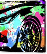 Corvette Pop Art 3 Acrylic Print