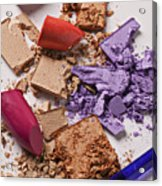 Cosmetics Mess Acrylic Print by Garry Gay
