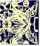 Cosmic Children In Space Acrylic Print