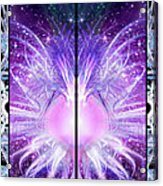 Cosmic Collage Mosaic Left Mirrored Acrylic Print