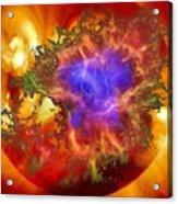 Cosmic Collision Acrylic Print