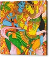Cosmic Dance Of Krsna  Acrylic Print