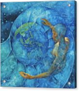 Cosmic Embrace Acrylic Print