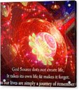 Cosmic Inspiration God Source 2 Acrylic Print