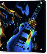 Cosmic Rock Guitar Acrylic Print