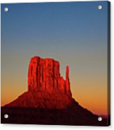 Cosmic Sunset At Monument Valley Acrylic Print