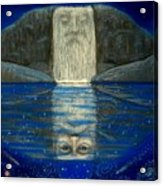 Cosmic Wizard Reflection Acrylic Print