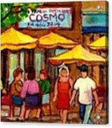 Cosmos  Fameux Restaurant On Sherbrooke Acrylic Print by Carole Spandau