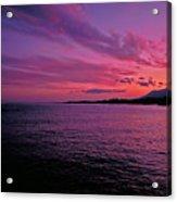 Costa Del Sol Sunset In Marbella Acrylic Print