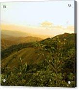 Costa Rica Rolling Hills 2 Acrylic Print