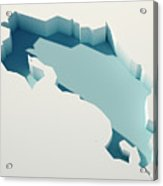 Costa Rica Simple Intrusion Map 3d Render Acrylic Print