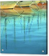 Cote D'azur Harbor Boats Acrylic Print