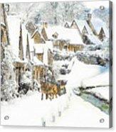 Cotswold Village Acrylic Print