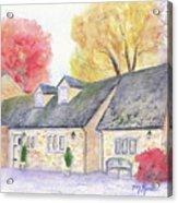 Cotswolds Cottage Acrylic Print
