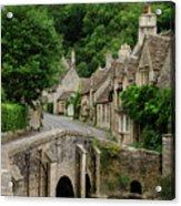 Cotswolds Village Castle Combe Acrylic Print
