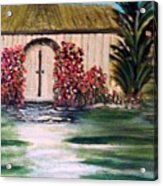 Cottage By The Sea Acrylic Print