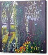 Cottage Flowers Acrylic Print