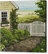 Cottage Garden Beach Getaway Acrylic Print