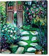 Cottage Gates Acrylic Print