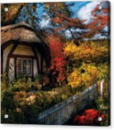 Cottage - Grannies Cottage Acrylic Print by Mike Savad