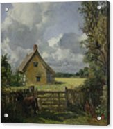 Cottage In A Cornfield Acrylic Print by John Constable