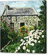 Cottage Of Stone Acrylic Print by David Lloyd Glover