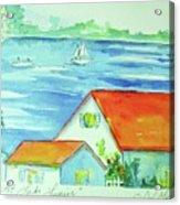 Cottage On Lake Lanier Acrylic Print