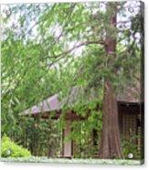 Cottage Orange Island  Louisiana  Acrylic Print