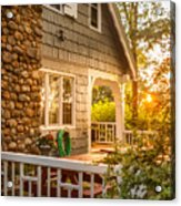 Cottage Sunset In Deep Cove, Nova Scotia Acrylic Print