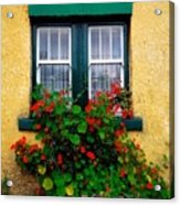 Cottage Window, Co Antrim, Ireland Acrylic Print