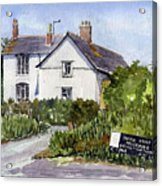 Cottages At Binsey. Nr Oxford Acrylic Print by Mike Lester
