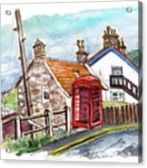 Cottages In Runswick Bay Acrylic Print