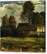 Cottages On The Dachau Marsh 1902 Acrylic Print