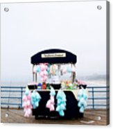 Cotton Candy Carousel- By Linda Woods Acrylic Print