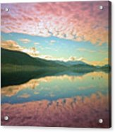 Cotton Candy Clouds At Skaha Lake Acrylic Print