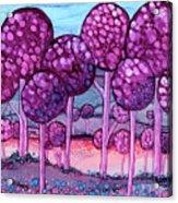 Cotton Candy Forest Acrylic Print