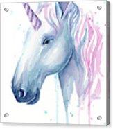 Cotton Candy Unicorn Acrylic Print