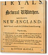 Cotton Mather, 1693 Acrylic Print