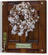Cotton Wreath Acrylic Print
