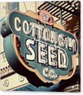Cottongim Seed Acrylic Print