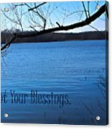 Count Your Blessings Acrylic Print