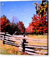 Country Autumn Acrylic Print
