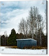 Country Barn In The Snow Acrylic Print