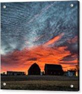 Country Barns Sunrise Acrylic Print