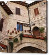 Country Charm Assisi Italy Acrylic Print