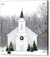 Country Christmas Church Acrylic Print