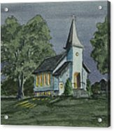 Country Church On A Summer Night Acrylic Print
