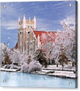 Country Club Christian Church Acrylic Print by Steve Karol