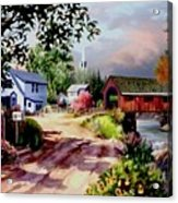 Country Covered Bridge Acrylic Print
