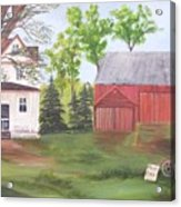 Country Farm Acrylic Print